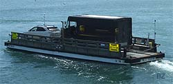 """UPS Ground"" delivers On-Time II (Chappaquiddick Ferry)!"